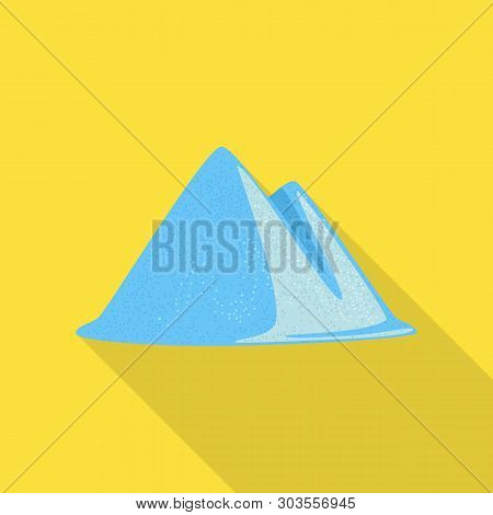 Vector Design Of Heap And Salty  Logo. Set Of Heap And Seasoning  Stock Vector Illustration.