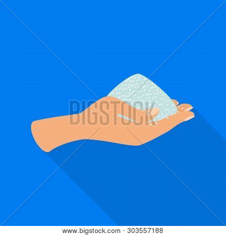 Isolated Object Of Arm And Handful Symbol. Set Of Arm And Salty Vector Icon For Stock.