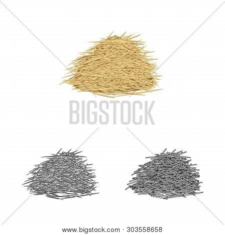 Vector Illustration Of Bagasse And Raw  Icon. Collection Of Bagasse And Waste Stock Vector Illustrat