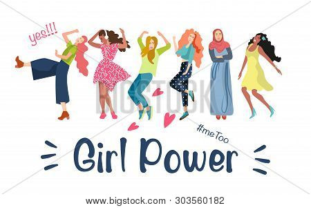 The Concept Of A Poster Of Women Rights And Equal Opportunities For Men And Women. The Theme Is Femi