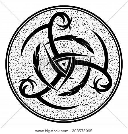 Sacred Geometry. Sacred Symbol Of Vikings. Ancient Sign Of Eternal Life. Scandinavian Grange Style.