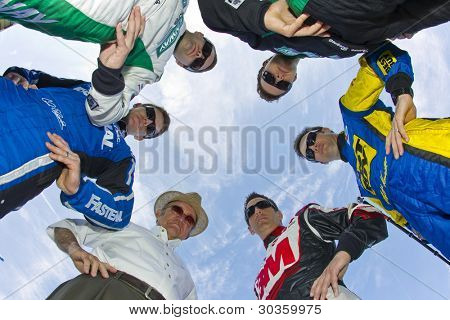 DAYTONA BEACH, FL - FEB. 22:  Members of the NASCAR team Roush Fenway pose for the Racing's annual photo day from Daytona International Speedway in Daytona Beach, FL on Feb 22, 2012.