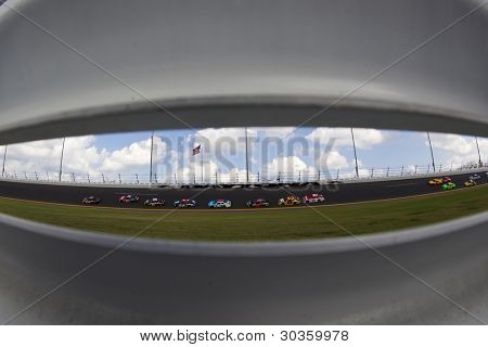 DAYTONA BEACH, FL - FEB. 23: The NASCAR Sprint Cup teams take to the track for the Gatorade Duel 1race at the Daytona International Speedway in Daytona Beach, FL on Feb 23, 2012.
