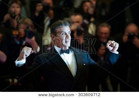 CANNES, FRANCE. May 24, 2019: Sylvester Stallone at the Hommage to Sylvester Stallone and screening of