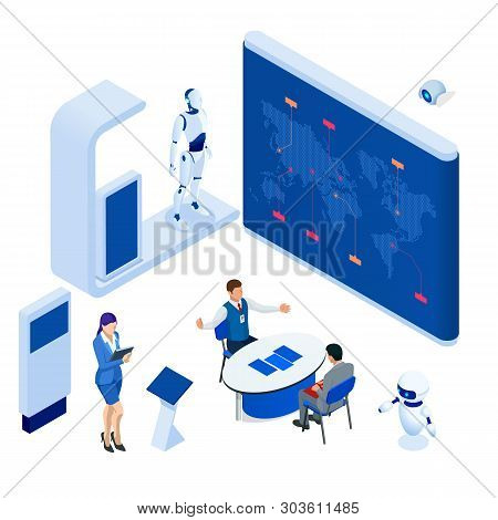 Isometric Expo Stands Vector & Photo (Free Trial) | Bigstock