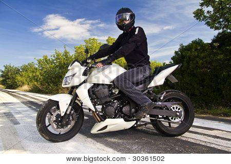 Man With A Motorcycle