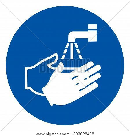 Wash Your Hand Symbol Sign,vector Illustration, Isolated On White Background Label. Eps10