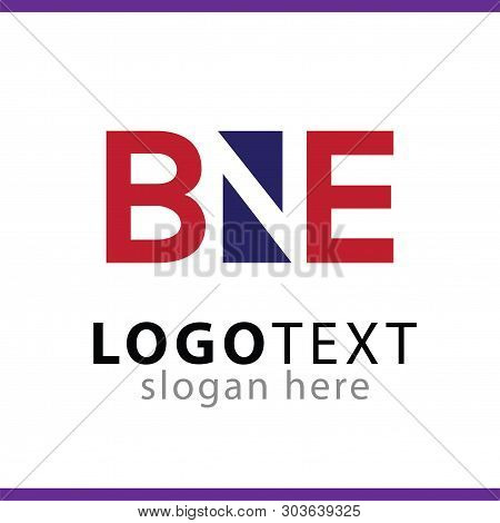 B Ne Letter Logo Vector Element. E G Initial Logo Template