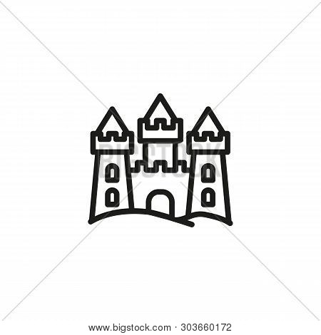Sand Chateau Line Icon. Palace, Castle, Beach. Sand Castles Concept. Vector Illustration Can Be Used