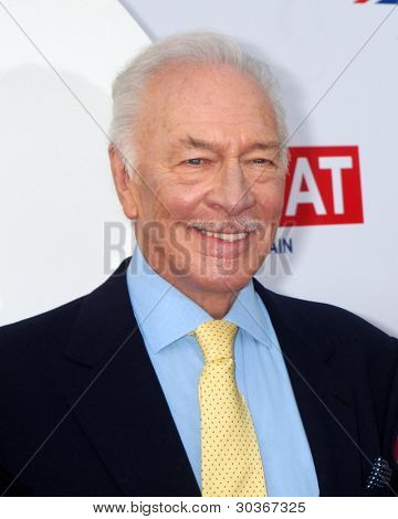 LOS ANGELES - FEB 24:  Christopher Plummer arrives at the GREAT British Film Reception at the British Consul General�¢??s Residence on February 24, 2012 in Los Angeles, CA.