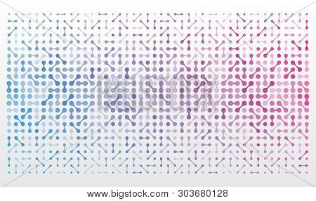 Abstract Background With Integrated Metaballs. Technological Background Texture For Website Or Banne