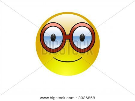 Aqua Emoticon - Glasses