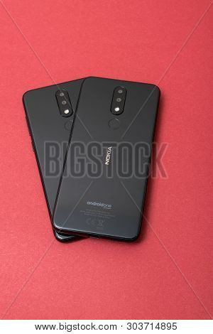 Cluj, Romania - May 13, 2019: Nokia Smartphone Made By Nokia Corporation, A Finnish Multinational Te