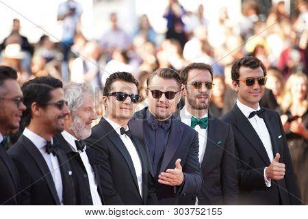 Orlando Bloom and Leonardo Di Caprio attend the screening of