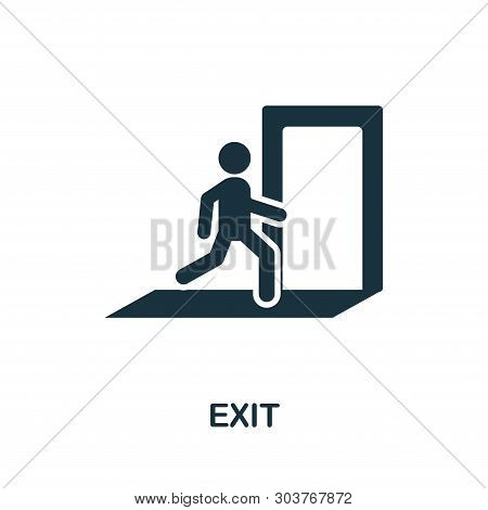 Exit Icon. Creative Element Design From Fire Safety Icons Collection. Pixel Perfect Exit Icon For We