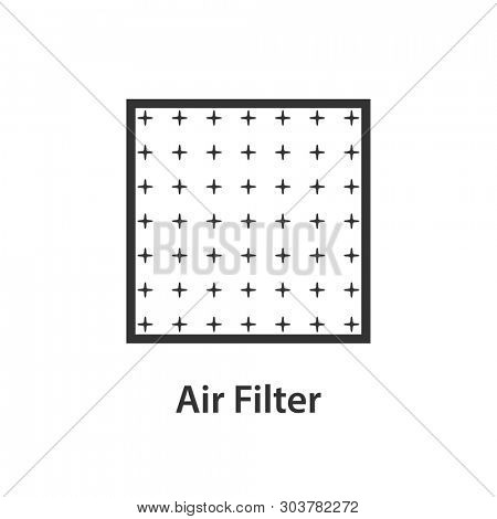 Air filter icon. Clipart clipart isolated on white background