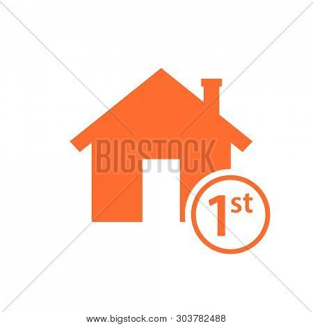 first time home buyer icon. Real estate clipart isolated on white background