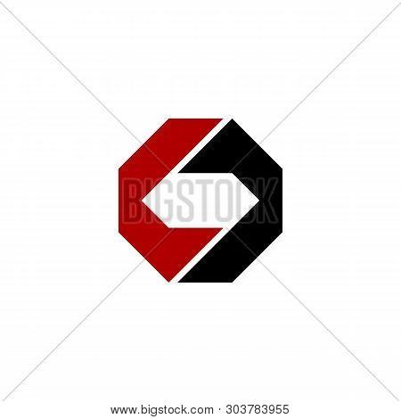 Diamond Shape O C Letter Logo Template Illustration Design