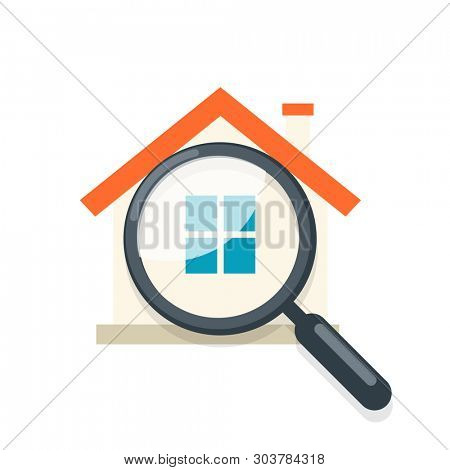 Home Inspection icon. Clipart image isolated on white background