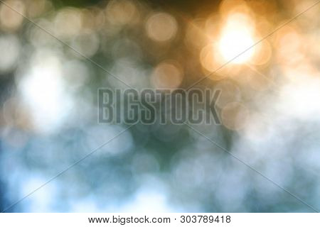 Light Sunset Bokeh Sky Image Intentionally Blurred To Create An Abstract Effect.