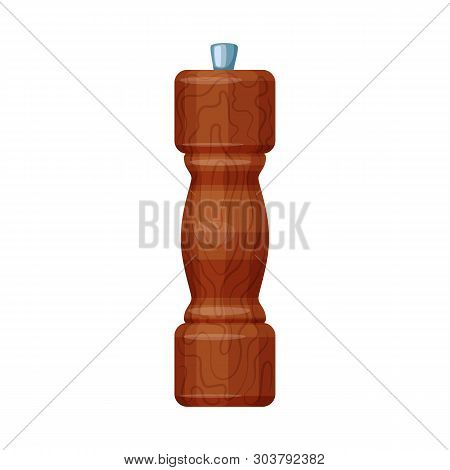 Vector Illustration Of Saltcellar  And Seasoning Symbol. Collection Of Saltcellar  And Wooden  Stock