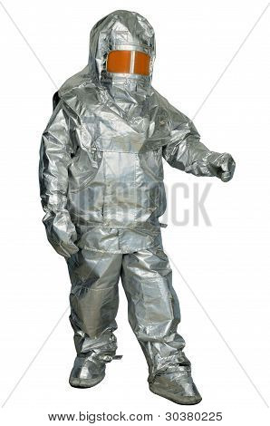 Fire proximity suit - protect a firefighter from high temperatures especially near fires of extreme temperature poster