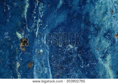 A Background Image Of Nature Blue Azurite.