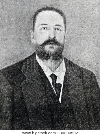 The mayor of St. Petersburg, Ilya Glazunov. Illustration from