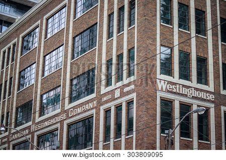 Toronto, Canada - November 14, 2018: Former Headquarters Of The Canadian Westinghouse Company, Branc