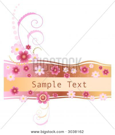 Feminine Floral Banner