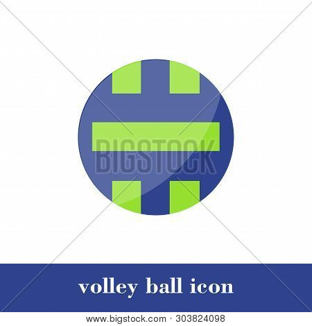 Vector Illustration. Volley Ball Icon. Flat Style. Ball