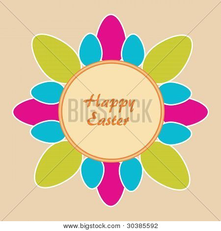 Beige Background With Easter Motif