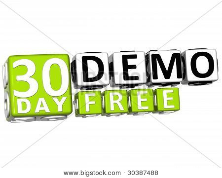 3D Get 30 Day Demo Free Block Letters