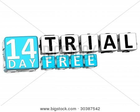 3D Get 14 Day Trail Free Block Letters