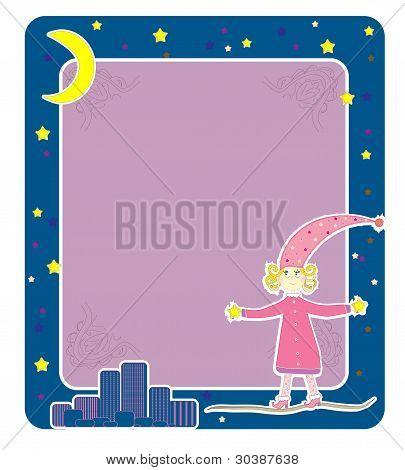 Mädchen im Pyjama eines Vektors