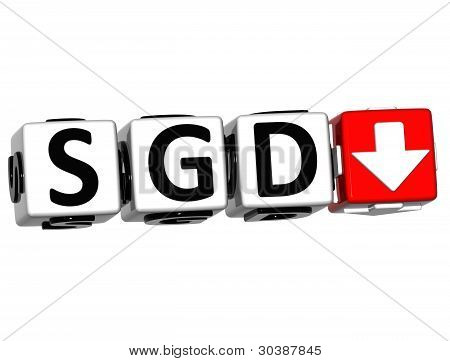 Currency SGD rate concept symbol button on white background poster