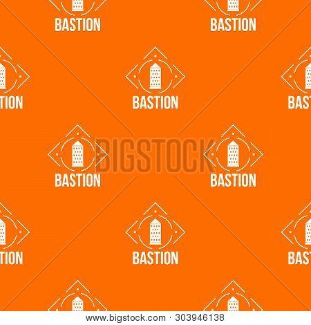 Bastion Pattern Vector Orange For Any Web Design Best
