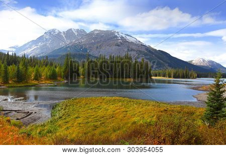 View of Porcupine creek in Banff national park