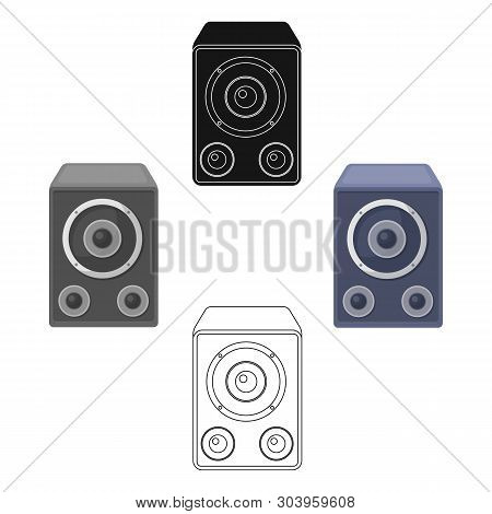 Subwoofer For Loud Music.party And Parties Single Icon In Cartoon, Black Style Vector Symbol Stock I