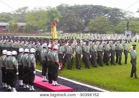 Ceremonia Militar o Policial. Military or Police Ceremony