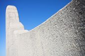 Famous landmark of the Afrikaans Language Monument in Paarl Western Cape South Africa poster