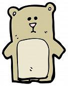 staring bear cartoon poster