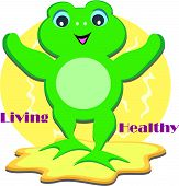 This Frog is committed to live Healthy. poster