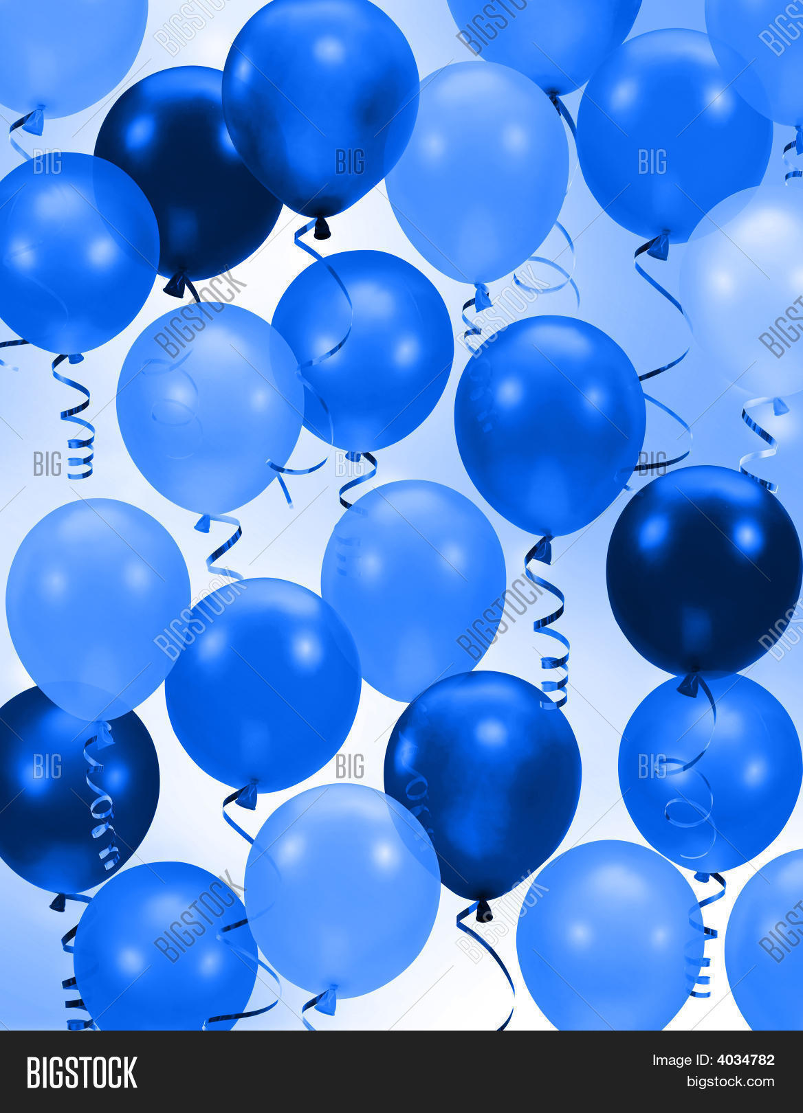 party blue balloons image photo free trial bigstock