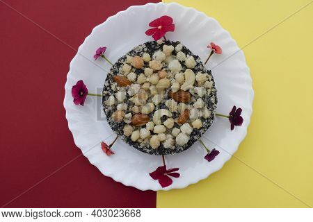 Kachriyu Or Kachariyu Typical Authentic Gujarat Winter Season Special Sweet Dessert Dish Made Of Bla