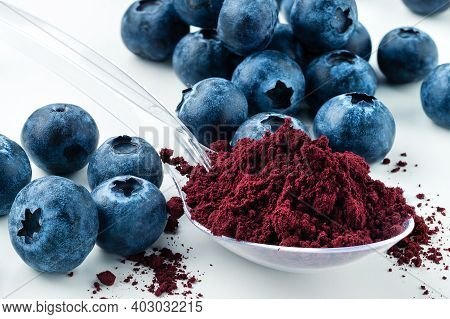 Antioxidant Rich Blueberry Powder Made Freeze Dried Super Food And Hand Picked Wild Nordic Berry Dry
