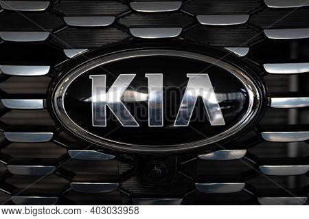 Rostov-on-don, Russia - Circa March 2020: Kia Motors Logo