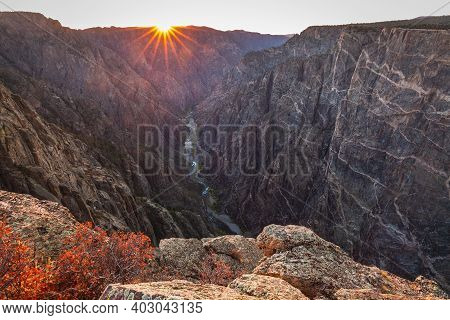 Black Canyon Of The Gunnison National Park Is An American National Park Located In Western Colorado,