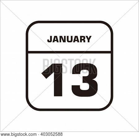 Calendar Icon 13 Isolated On White Background, Calendar Icon Vector Flat Modern, Calendar Icon, Cale