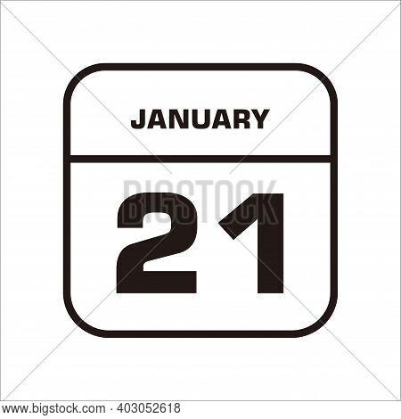 Calendar Icon 21 Isolated On White Background, Calendar Icon Vector Flat Modern, Calendar Icon, Cale